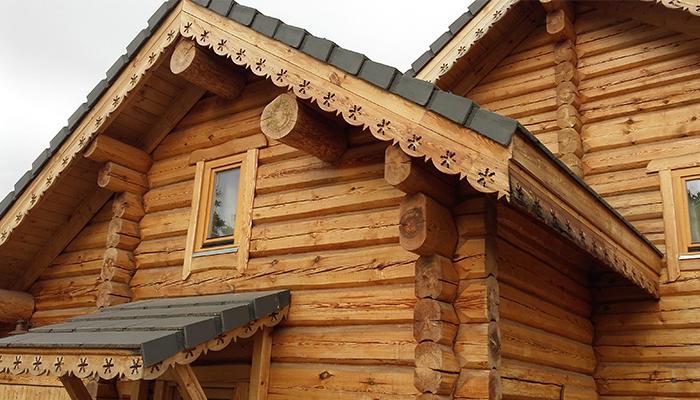 Construction bois empilé