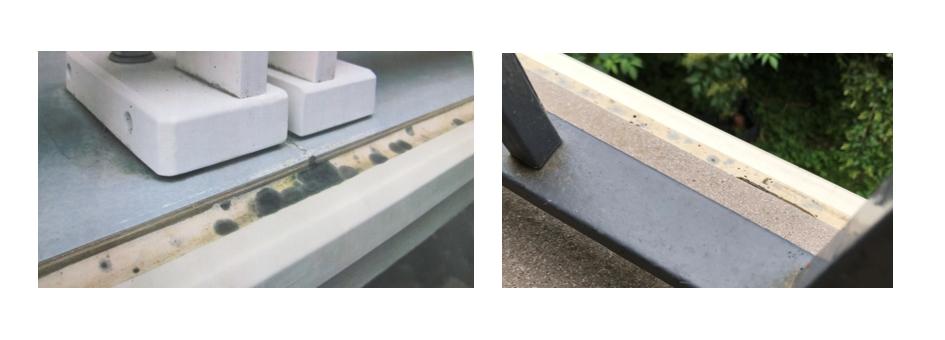 Ejemplo de moho en un balcón