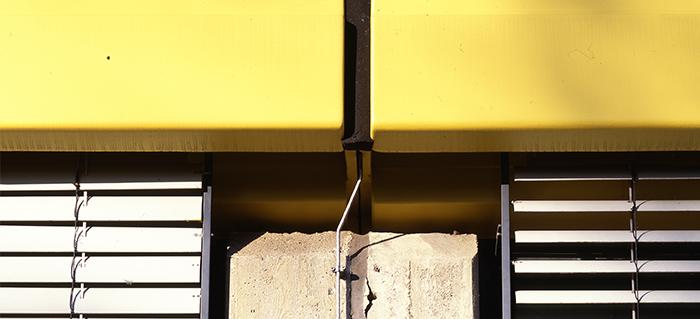 Joint de dilatation sur façade