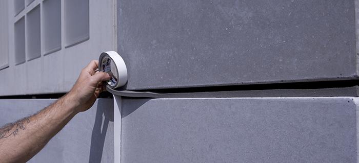 Application du joint de façade TP600