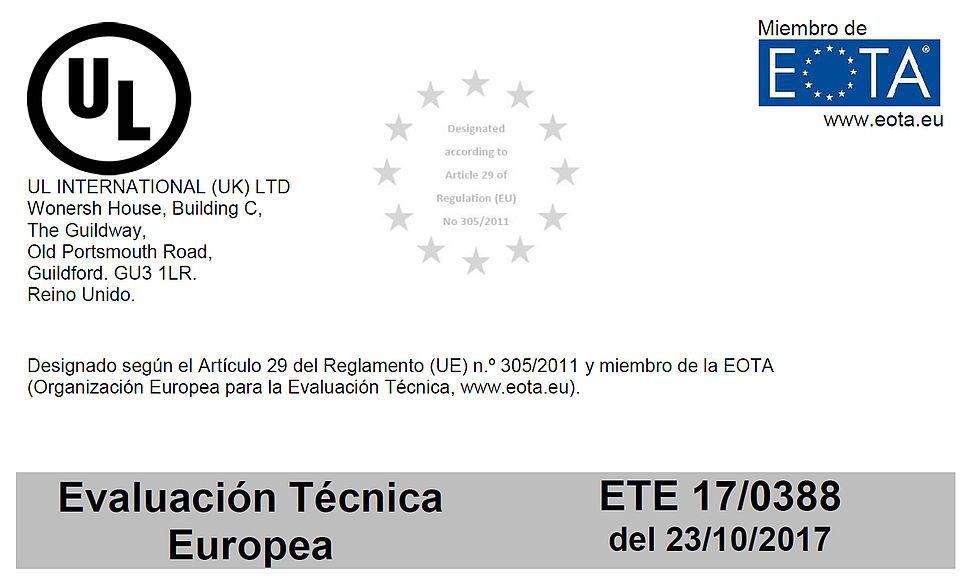 Evaluación Técnica Europea