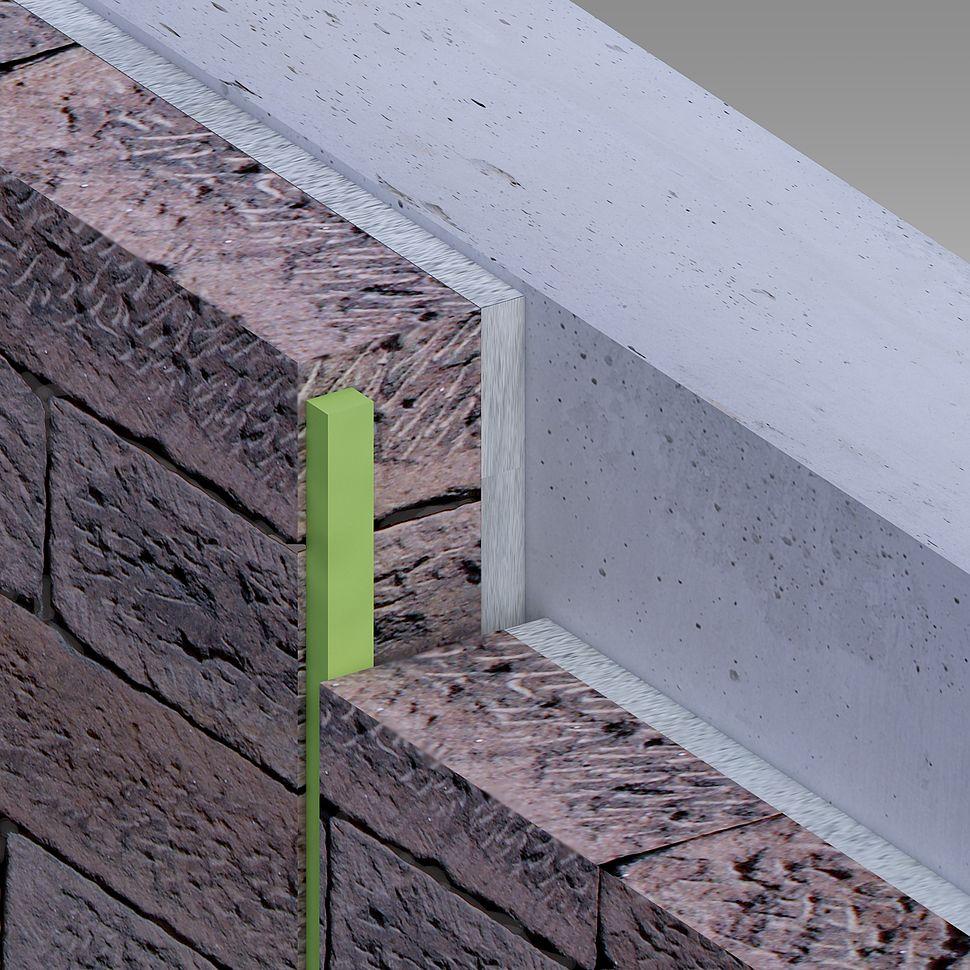 Mousse imprégnée pour joint façade en pierre naturelle