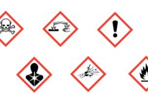Känna till piktogram för kemiska produkter