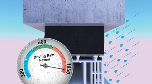 Driving rainproof