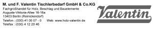 M. und F.Valentin Tischlerbedarf GmbH & Co.KG